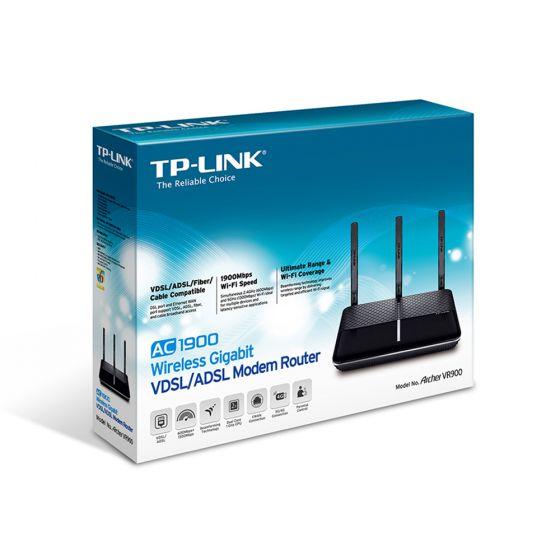 ראוטר+מודם TP-Link Archer VR900 AC1900 Gigabit VDSL/ADSL 1900Mbps